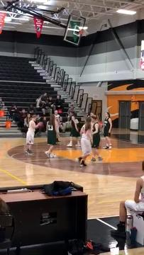 Charles City's Rylee Hageman, who has Down syndrome, scored a basket for her school's junior varsity team.