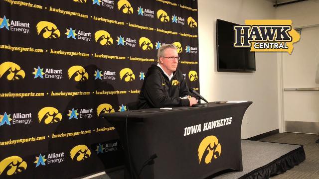 Iowa coach Fran McCaffery says Nicholas Baer's season took a wrong turn when he broke his finger.