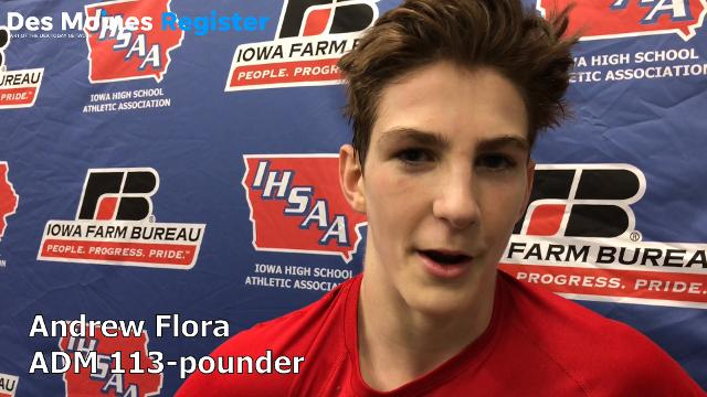 ADM junior Andrew Flora knocked off a defending state champ to reach the Class 2A state finals at 113 pounds.