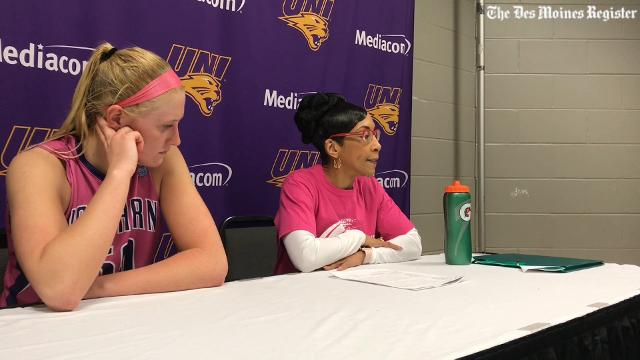 Panthers coach Tanya Warren breaks down UNI's loss to Drake.