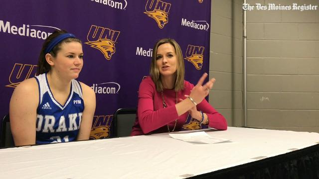 Drake coach Jennie Baranczyk breaks down the Bulldogs' win over UNI