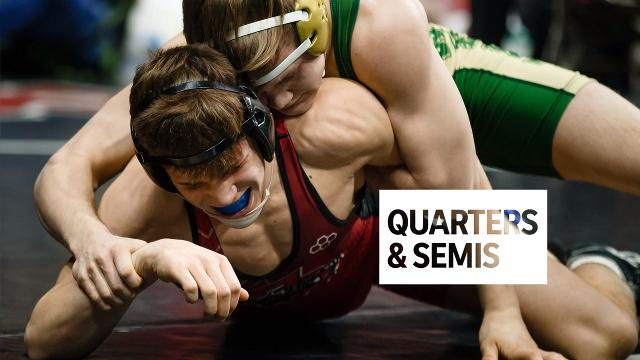 Check out the action from the quarter and semifinal rounds as we highlight Day 2 of the 2018 state wrestling tournament in Des Moines.