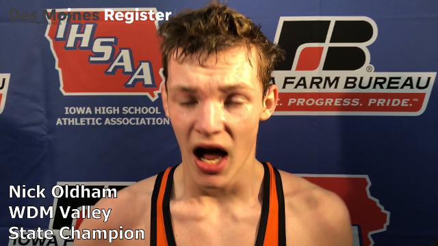 Valley's Nick Oldham gets his state title