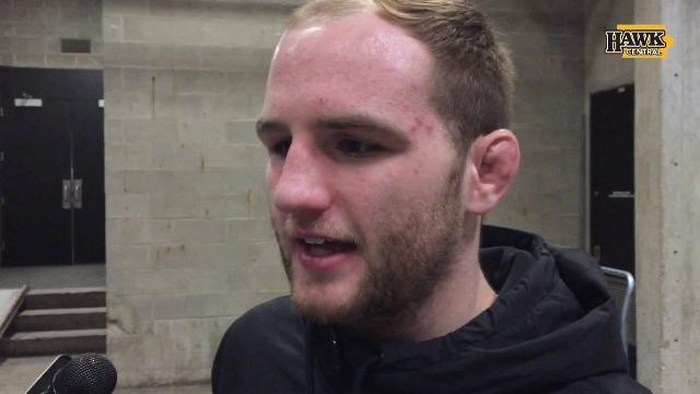 Iowa 165-pounder Alex Marinelli pinned former teammate Skyler St. John in 52 seconds. He talks bigger goals.