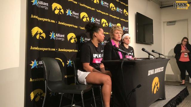 Lisa Bluder breaks down Iowa's win over Wisconsin