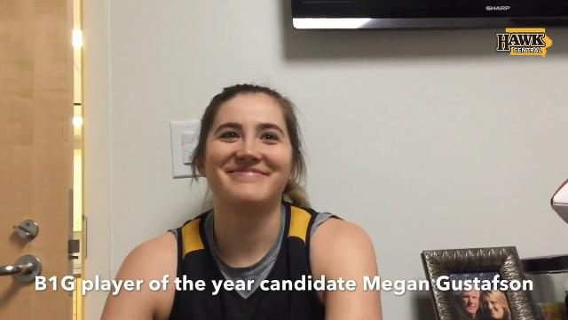 Iowa junior Megan Gustafson explains how she deals with double, triple teams.