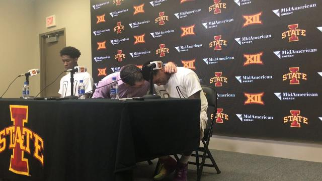 Iowa State guard gets emotional talking about his late father.
