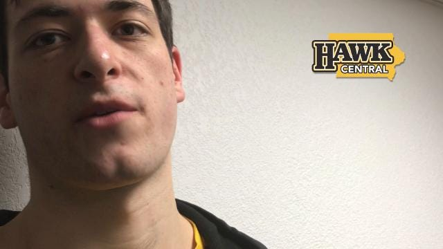 Iowa forward Ryan Kriener on his motivation of playing in front of family members