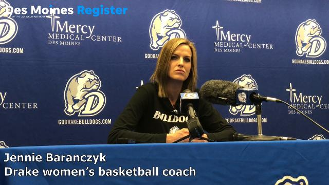 Drake coach Jennie Baranczyk explains what's worked so well for the Bulldogs during their conference winning streak.