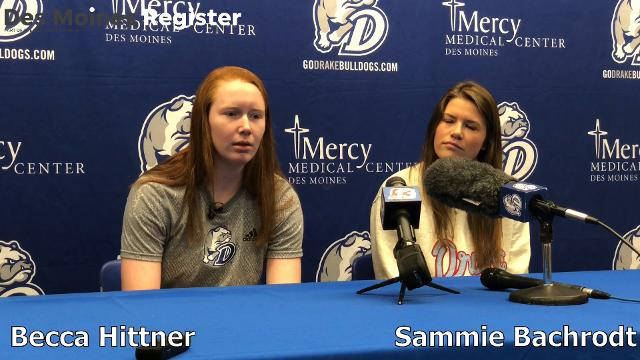 Drake players Becca Hittner and Sammie Bachrodt explain their thought process on the Valley winning streak.
