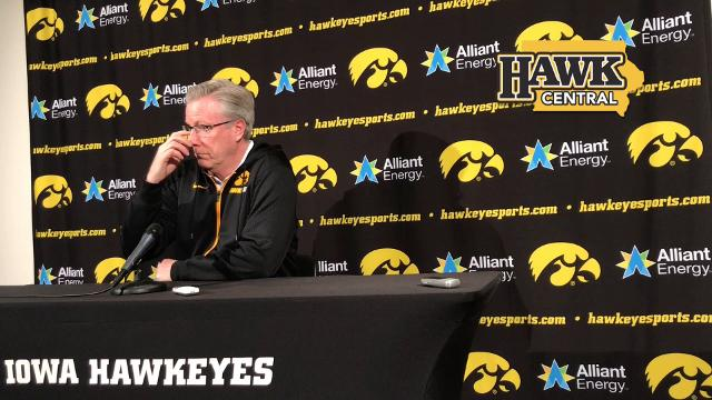 Iowa basketball coach Fran McCaffery points to his 'body of work' when asked if he feels his job is in jeopardy.