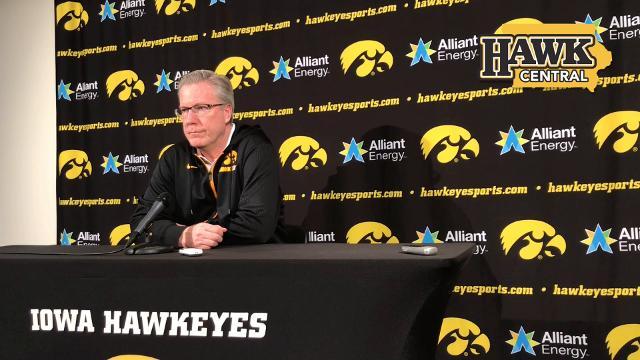 Iowa coach Fran McCaffery has fond feelings for his lone senior, Dom Uhl