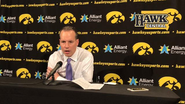 Northwestern coach Chris Collins says the Hawkeye combination of Tyler Cook and Luka Garza inside plus Jordan Bohannon on the perimeter was too taxing for his team