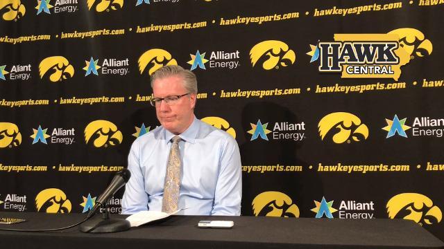 Iowa coach Fran McCaffery had a timely pep talk with Jordan Bohannon
