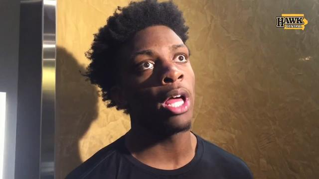 Iowa forward Tyler Cook addresses a first-round matchup against Illinois.