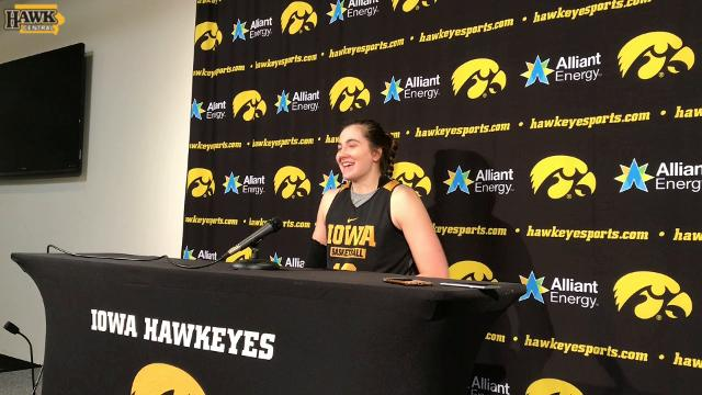 Megan Gustafson and the Hawkeyes open the Big Ten Tournament on Thursday.
