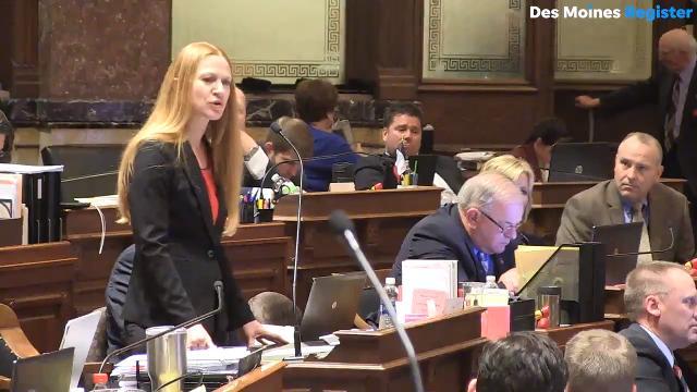 "Watch the Iowa Senate debate a ""fetal heartbeat"" bill in February."