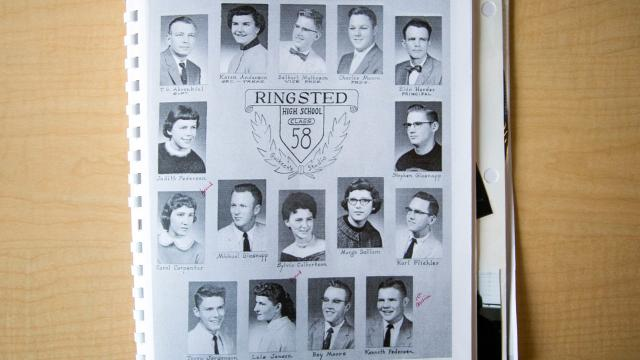 All 14 graduates from the 1958 class at Ringsted High are still alive.