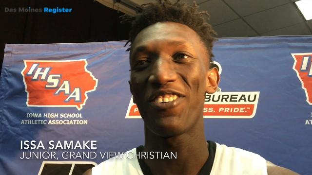 Iowa State 2019 target Issa Samake discusses Grand View Christian's Class 1A state quarterfinal win
