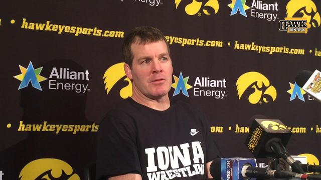 Iowa coach Tom Brands outlines his thoughts heading to Cleveland.
