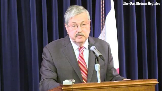 Gov. Terry Branstad praises Kim Reynolds as she prepares to take office