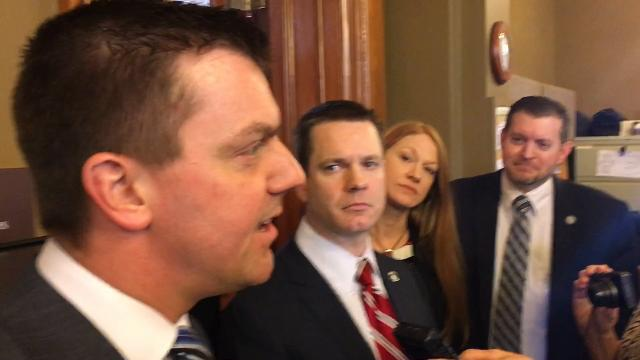 Newly elected Iowa Senate Majority Leader Jack Whitver talks about a new era in the Iowa Legislature in the wake of former Senate Majority Leader Bill Dix's abrupt resignation on Monday.