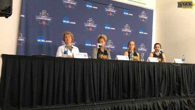 Iowa coach Lisa Bluder talks about the Hawkeyes' status heading into Saturday's NCAA Tournament opener.