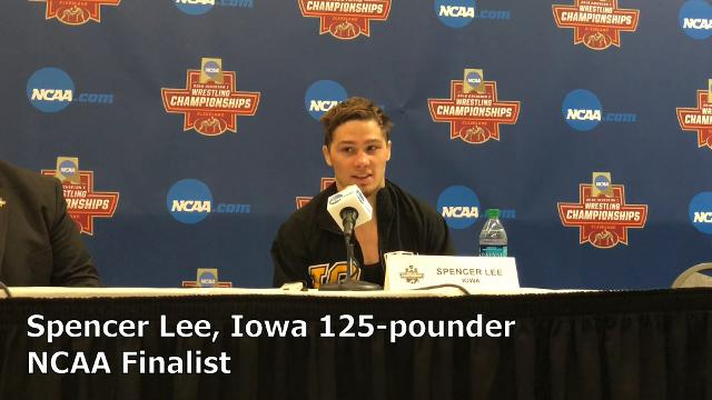Iowa's Spencer Lee is headed to the NCAA Finals at 125 pounds.