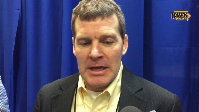 Iowa coach Tom Brands recaps a strong Friday for the third-place Hawkeyes at the NCAA Wrestling Championships.