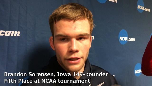 Iowa senior Brandon Sorensen reflects on his career after finishing fifth at 149 pounds at the NCAA tournament.