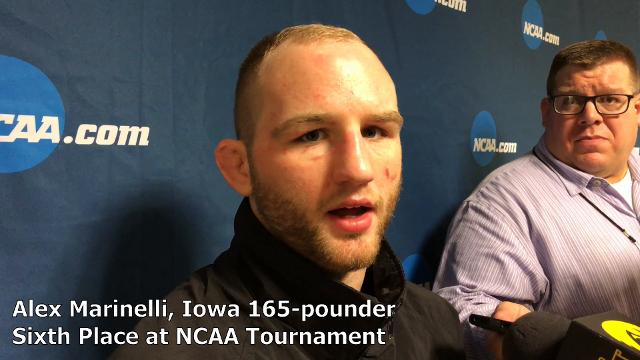 Iowa's Alex Marinelli finished at 165 pounds at the NCAA tournament.