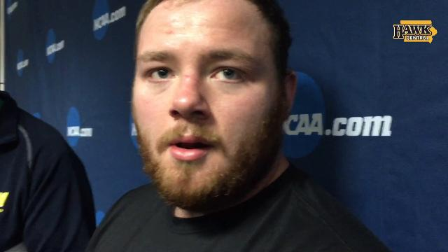 Iowa heavyweight Sam Stoll took fifth with three pins and a major decision.