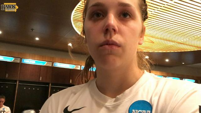 Iowa's Kathleen Doyle talks about the experience the Hawkeyes gained in the NCAA Tournament, despite the tough loss.
