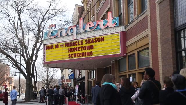 The movie depicting the Iowa City West High School volleyball team winning the 2011 state championship after the death of their teammate Caroline Found held its hometown premiere in Iowa City.
