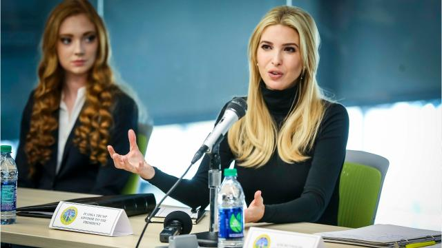 Ivanka Trump, daughter and assistant to president Donald Trump, toured an Iowa high school science lab and talked up the administration's workforce initiatives alongside Gov. Kim Reynolds.