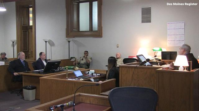 When asked by Judge Robert Hanson about why he boarded up the window to his adopted children's room Finn said his wife knew how to manipulate him and, looking back on it, he regrets what he did.