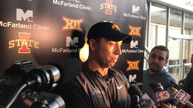 The Iowa State coach speaks after spring practice gets underway.