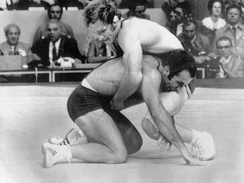 An excerpt from our 2014 interview with the legendary wrestler and wrestling coach Dan Gable.
