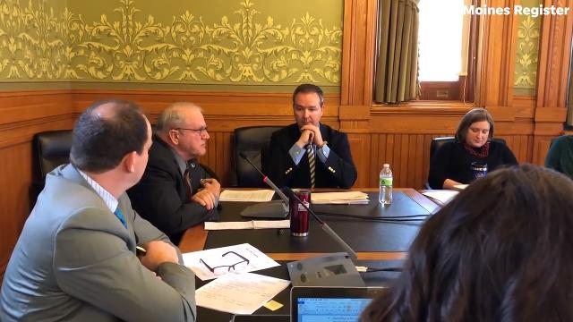 Iowa state senators, Ken Rozenboom, R-Oskaloosa and Jeff Danielson, D-Waterloo share their comments on the Iowa Student Opportunity Act at the conclusion of a subcommittee hearing on the bill.
