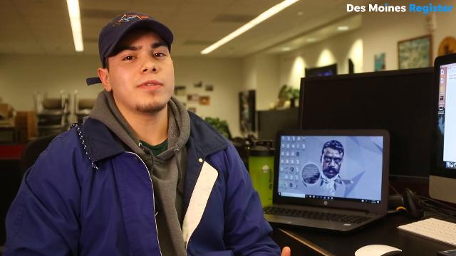 Jonathan Landeros-Cisneros, a student at Iowa State, is in his sophomore working on a degree in Anthropology. Last year he took a semester off to help his family by working a manual labor job. He said the work motivated him to go back to school.
