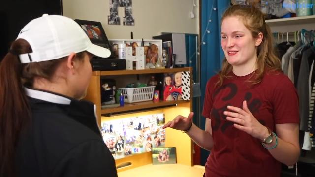 Coe College student Meredith Wall talks about transitioning from a childhood of poverty to the comfortable life of a college student.