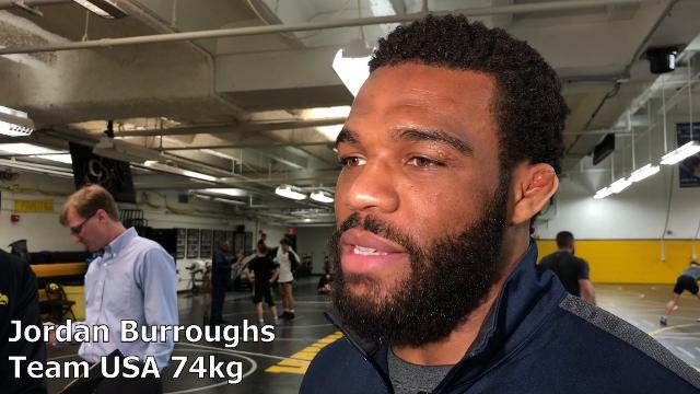 Jordan Burroughs, a former Nebraska star and a five-time World and Olympic champion, discusses the World Cup in Iowa City.