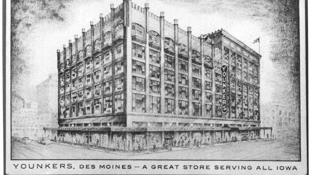 Here's a brief look at the history of the Younkers department store in Iowa and downtown Des Moines.