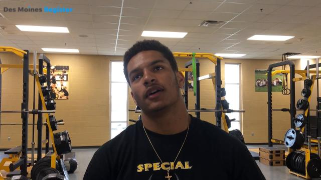 Iowa/Iowa State RB target Gavin Williams discusses early football recruitment. Williams is also a 100-meter dash contender at the Drake Relays.