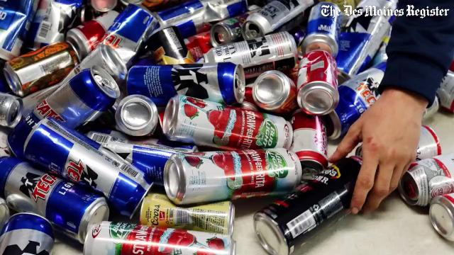 "Kans-R-Us in Perry is one of about 100 remaining redemption centers in Iowa. There has been renewed debate about Iowa's ""bottle bill"" that in 1978 established 5-cent deposit for cans and bottles."