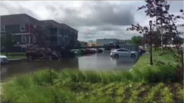 Ankeny remains inundated with floodwaters on Sunday after flash floods swamped the Des Moines metro Saturday night.