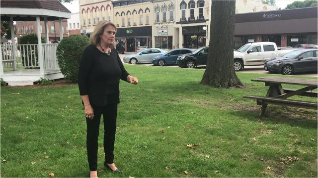 Following Indianola's Iowa Economic Development Business Assessment presentation September 27, Consultant Terry Poe Buschkamp talks about events and green space.