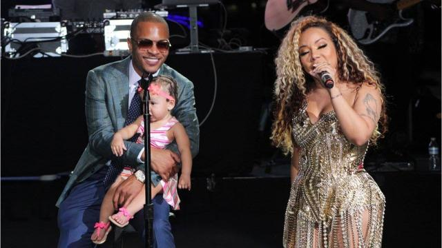 The latest twist in the up-and-down personal saga involving rapper T.I.  and his wife, singer Tameka (Tiny) Harris, came Tuesday night at Chene Park in Detroit.