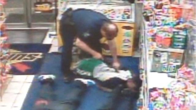 """In 2014, while working for the Inkster Police Department, Officer James Ture used his Taser on an apparent innocent bystander in a gas station while responding to a shots-fired call. An internal investigation later determined Ture used the Taser """"without justification or cause"""" on the man, failed to report use of it and lied about the circumstances. Inkster fired Ture over the incident."""