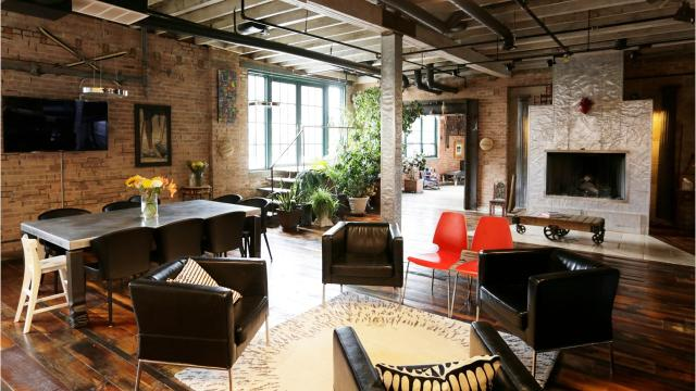 This turn-of-the-century building in Detroit's Rivertown is being reinvented as a chic business and living space.
